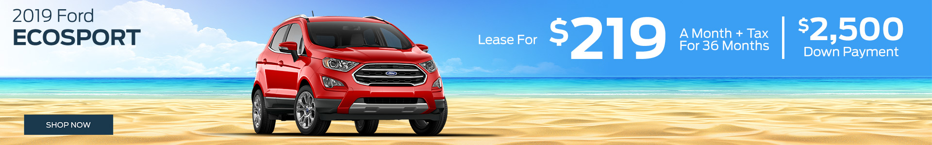 2019 Ford Ecosport - Lease for $219