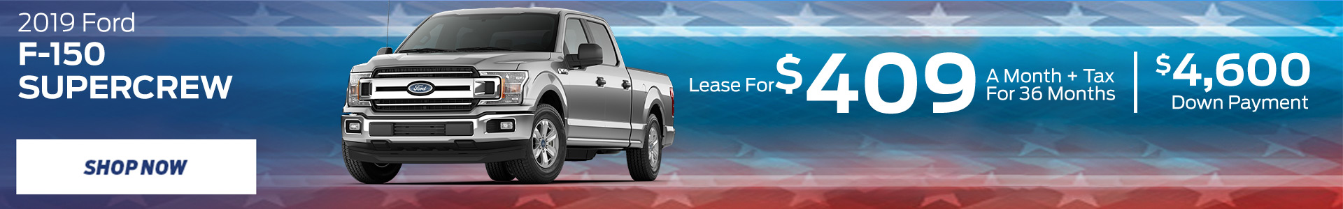 2019 F-150 - Lease for $409