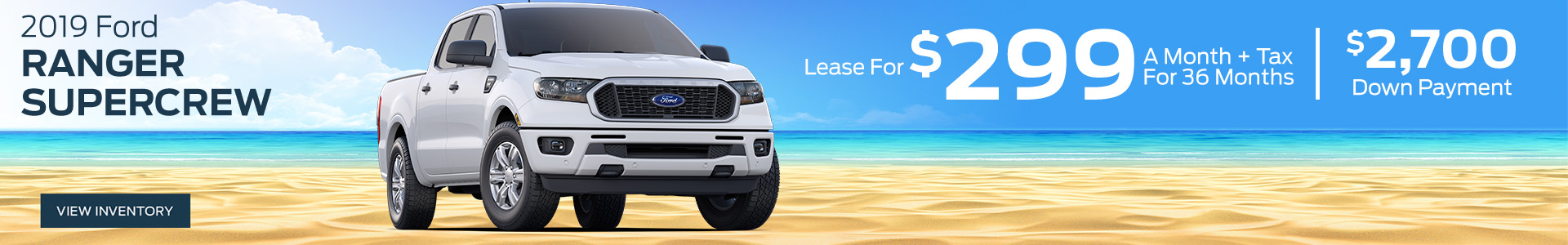 2019 Ford Ranger - Lease for $299