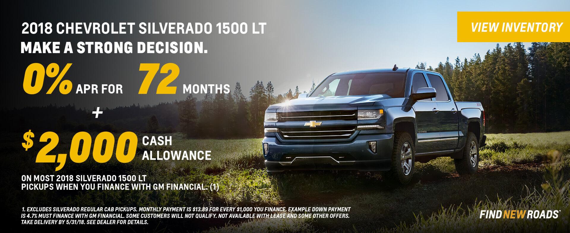2018 Chevrolet Silverado 1500 0% APR
