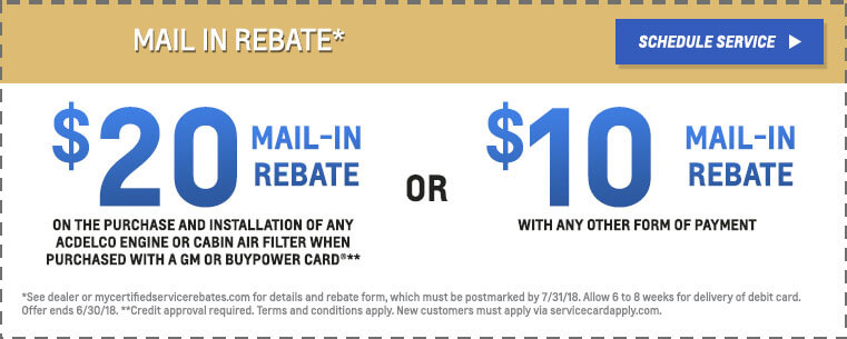 Mail In Rebate ACDelco
