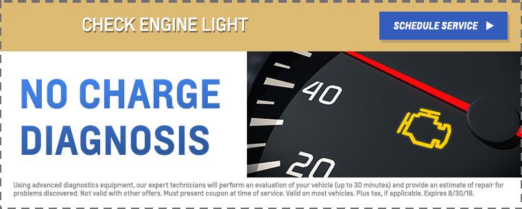Check Engine - No Charge
