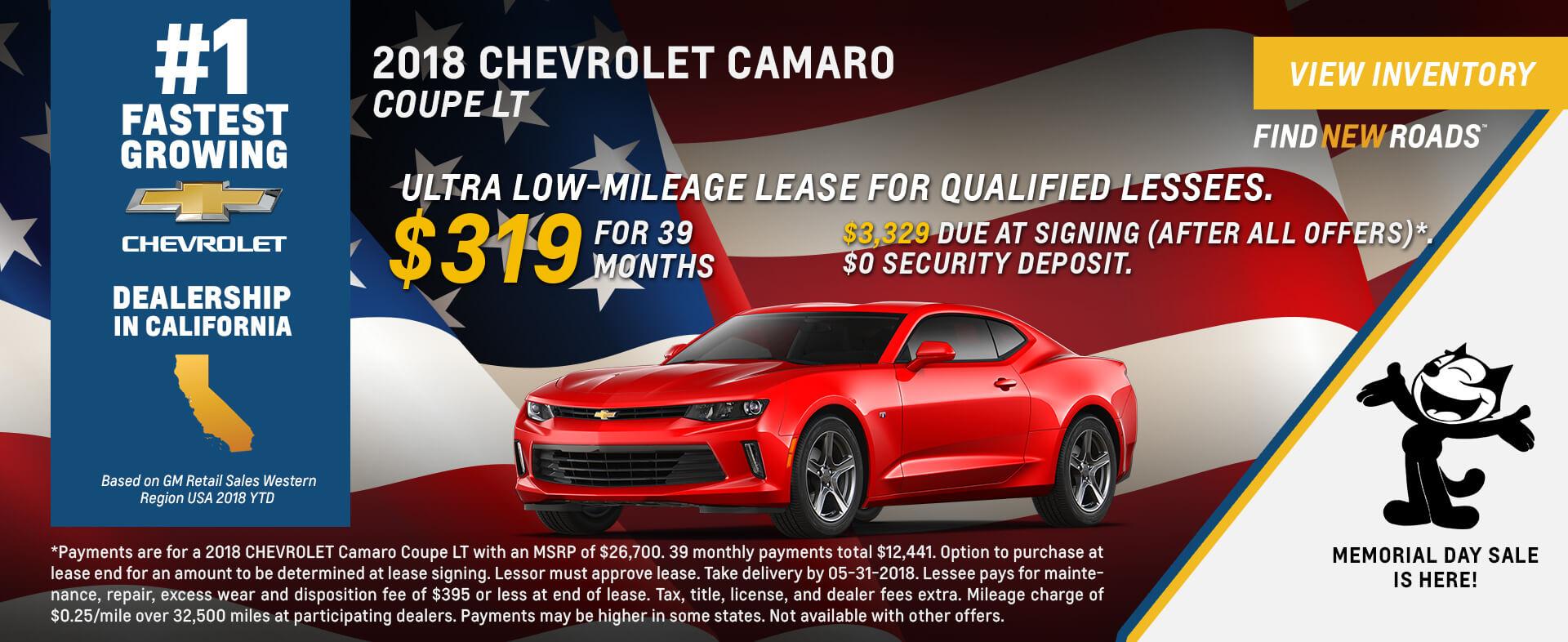 Chevrolet Camaro $319 Lease
