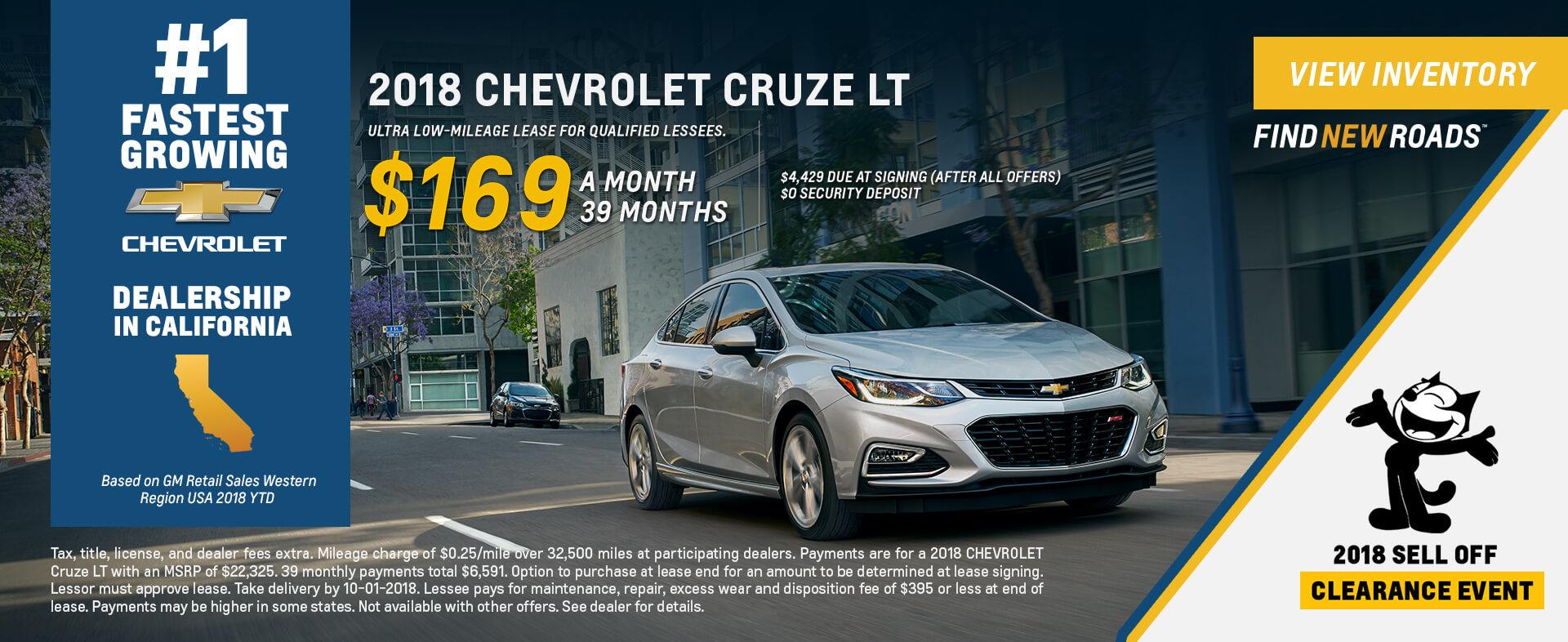 Chevrolet Cruze $169 Lease