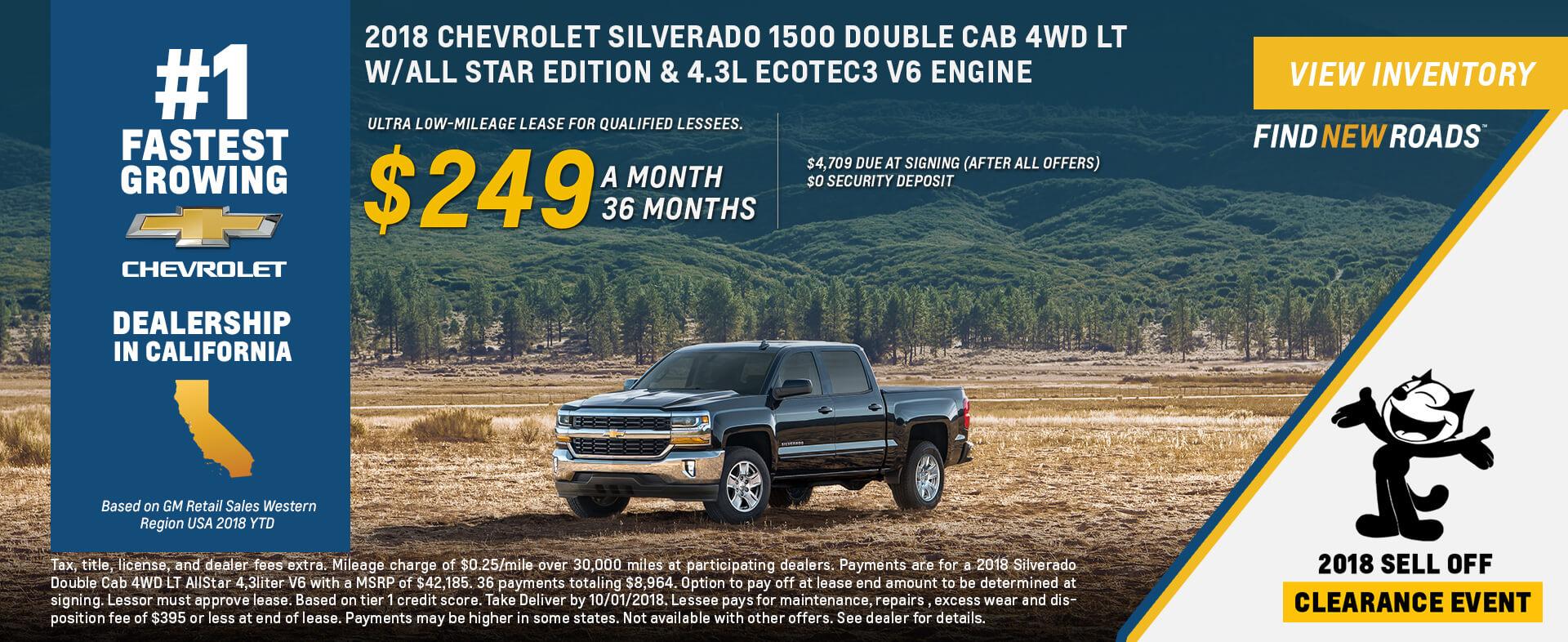 Chevrolet Silverado $249 Lease