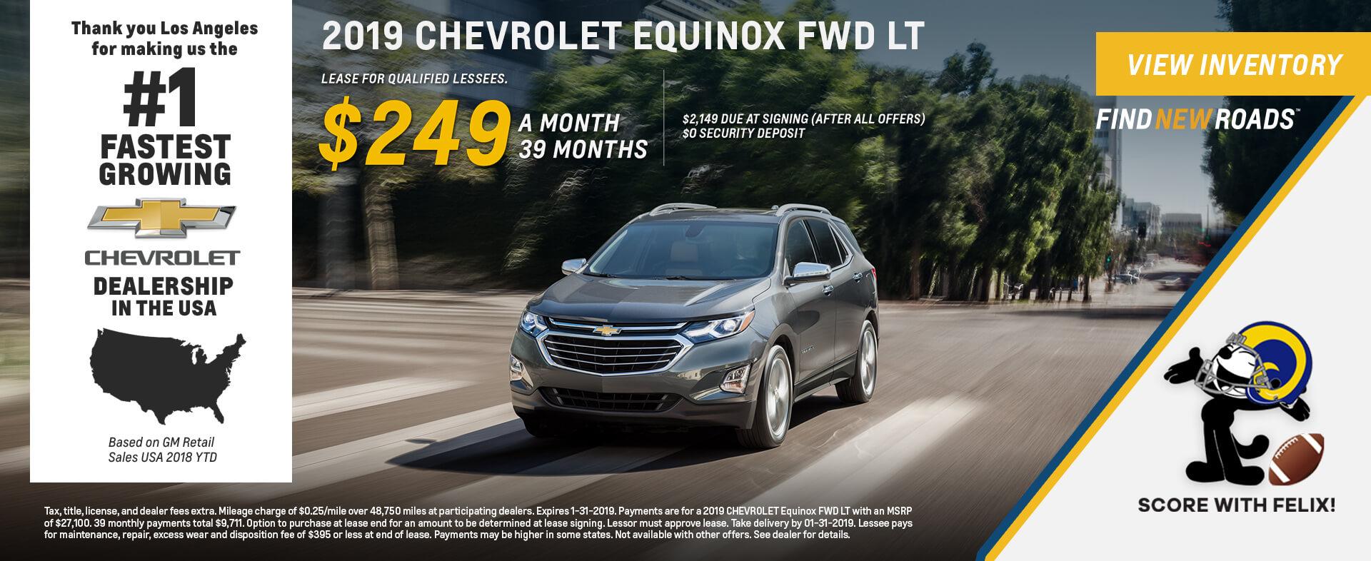 Chevrolet Equinox $249 Lease
