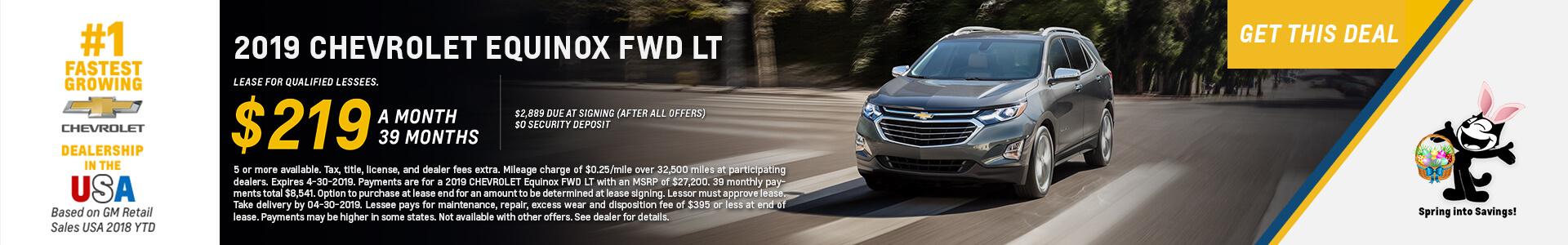 Chevrolet Equinox $219 Lease