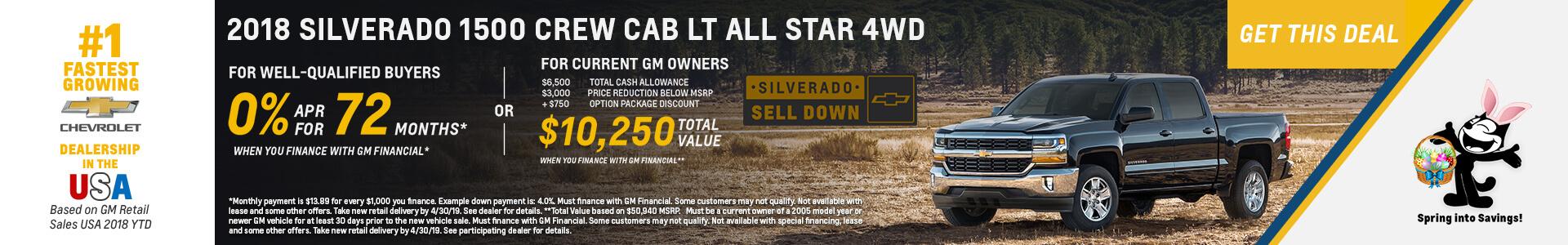 Chevrolet Silverado 0% APR