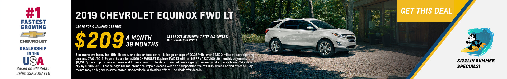 Chevrolet Equinox $209 Lease