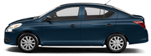 Nissan Versa in Blue Jay