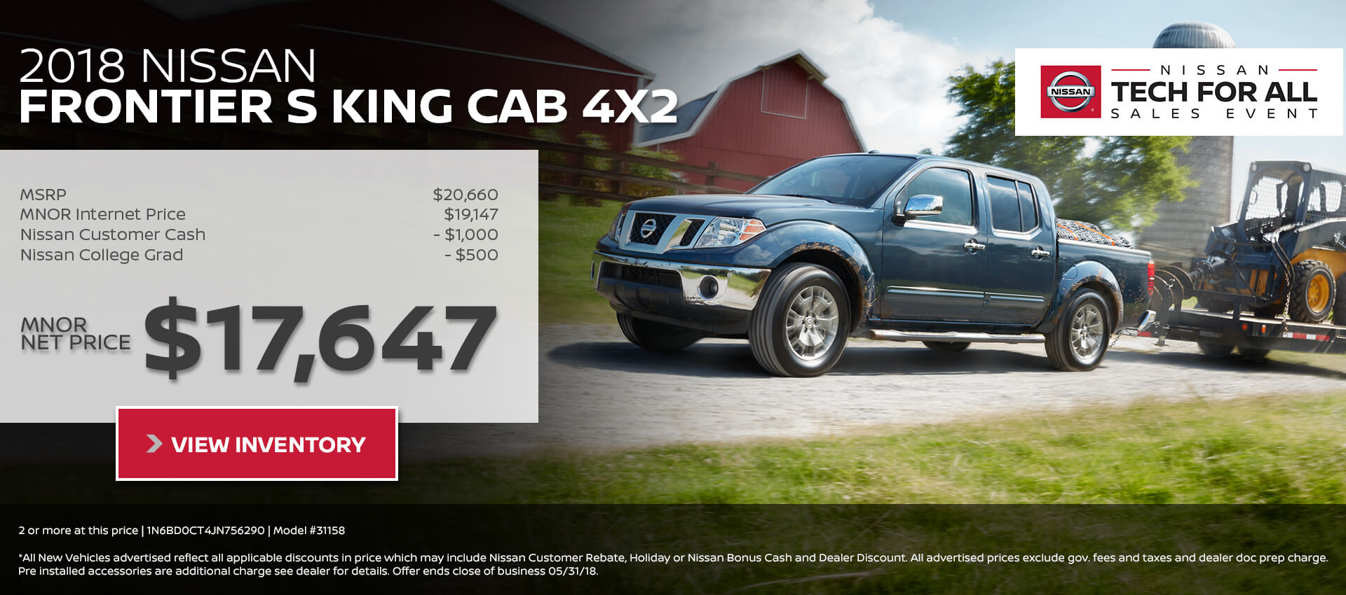 2018 Nissan Frontier King Cab $17,647