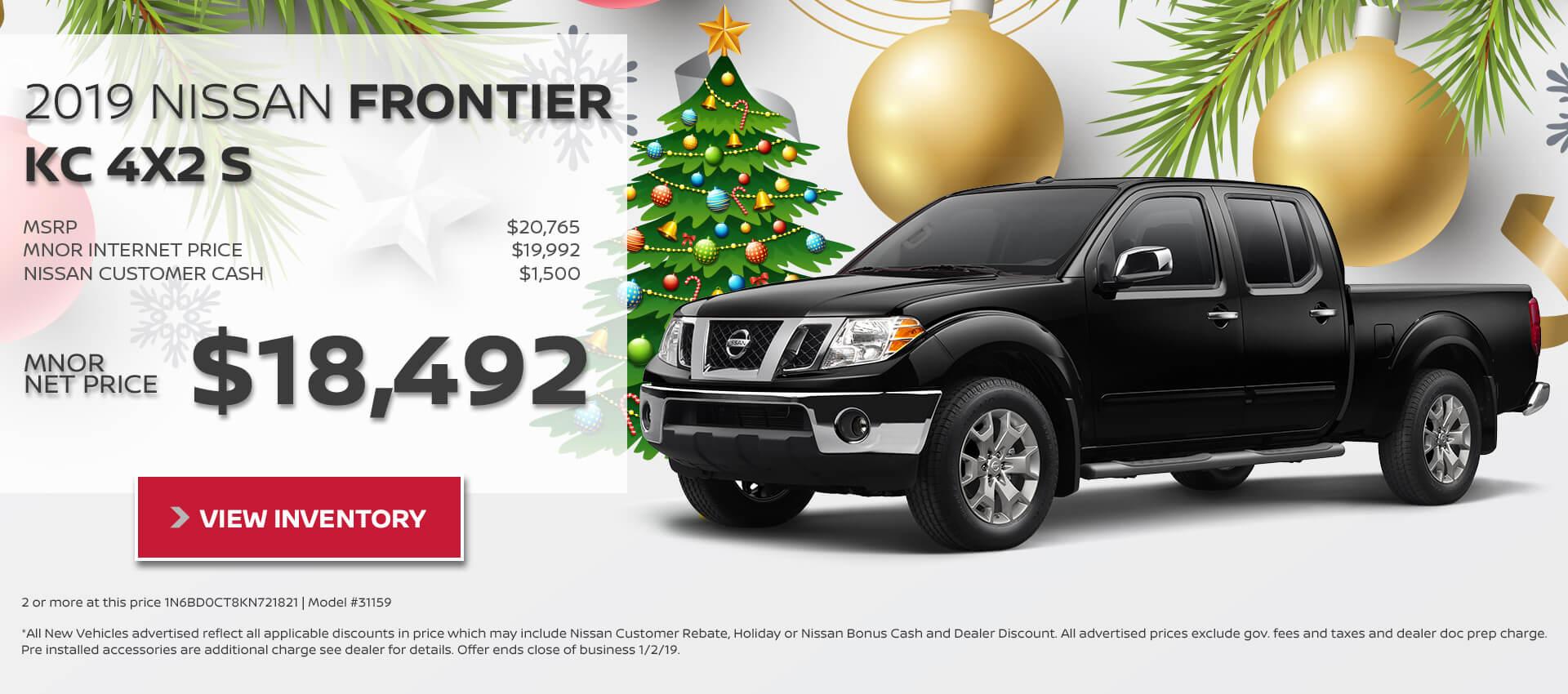 2019 Nissan Frontier KC $18,492