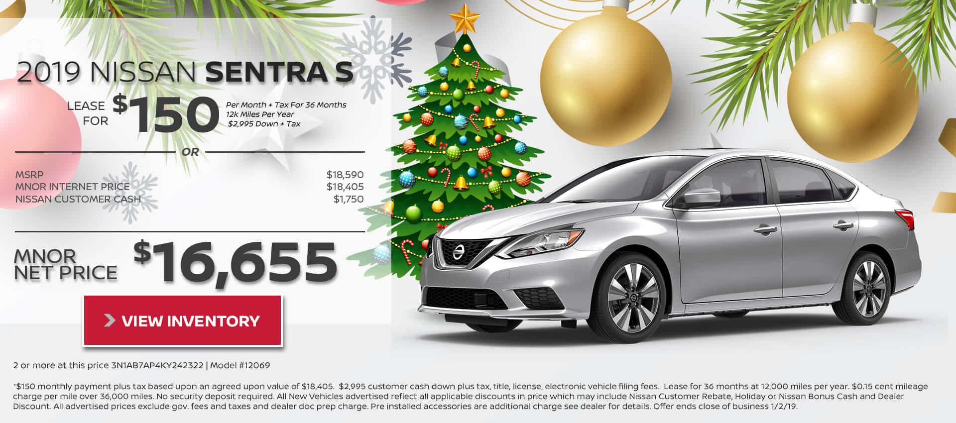 2019 Nissan Sentra $16,655