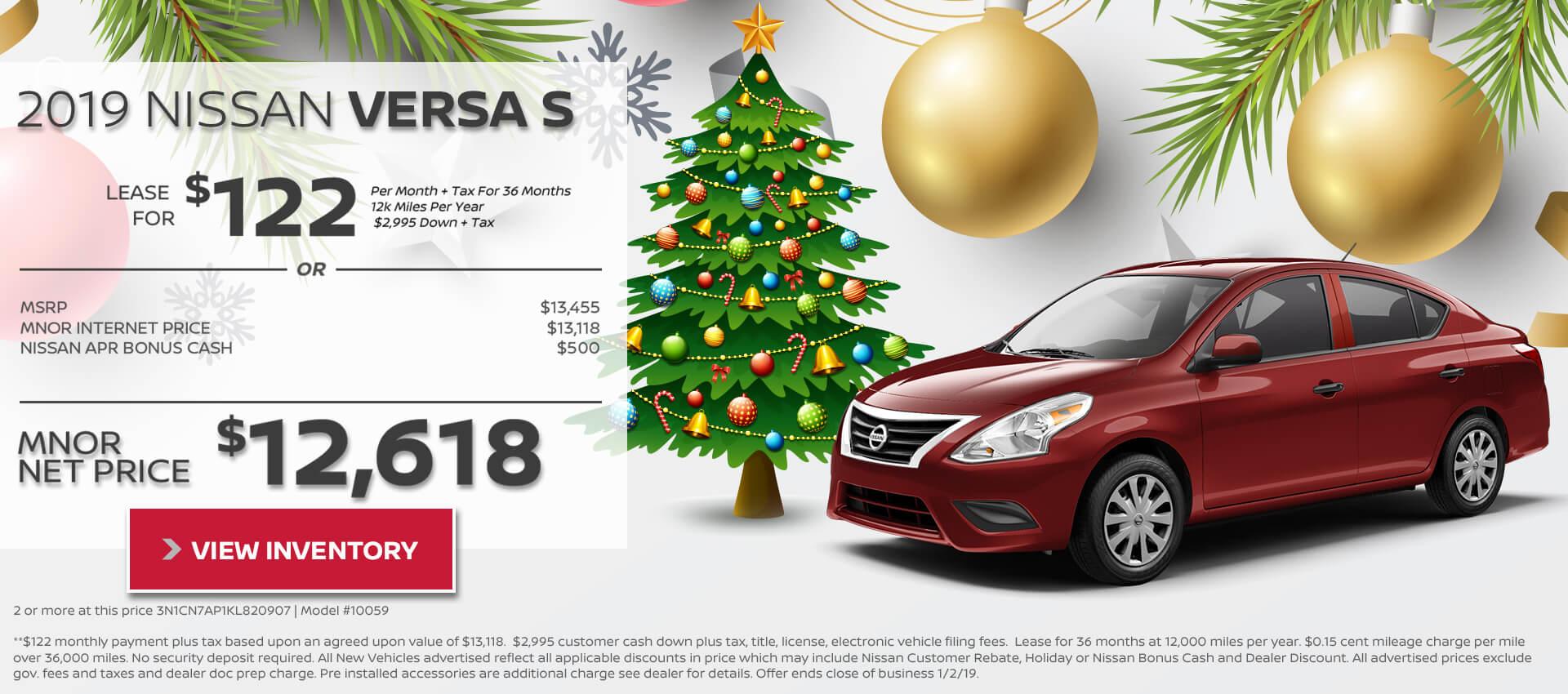 2018 Nissan Versa Sedan $12,618