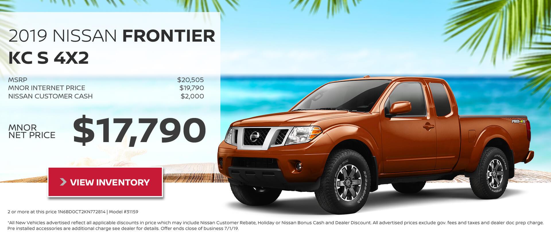 Nissan Frontier KC $17790