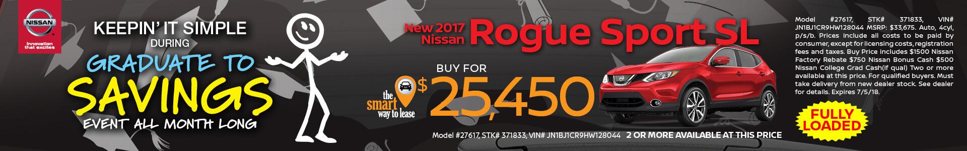 2018 Rogue Sport $25450