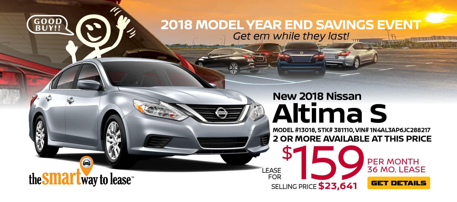 2018 Altima $229