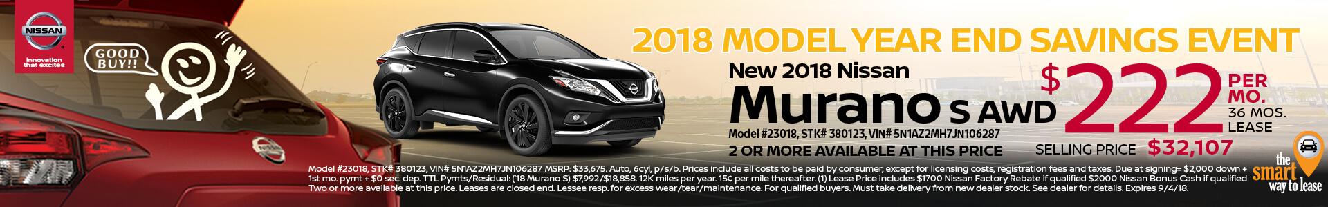 2018 Nissan Murano $222