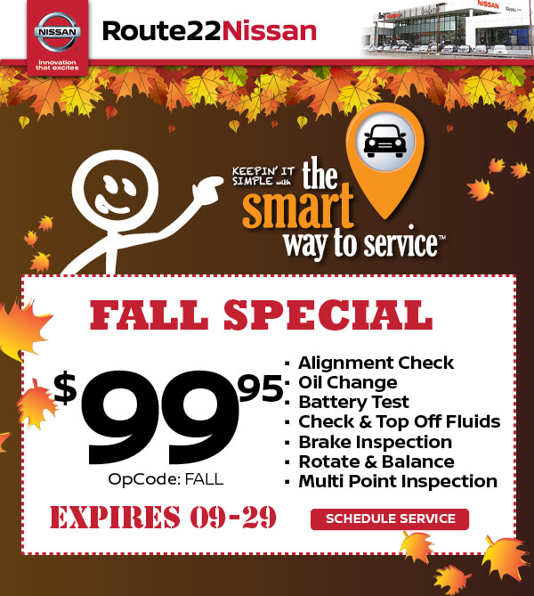 Route 22 Nissan >> Fall Service Special Route 22 Nissan