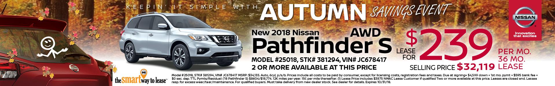 2018 Pathfinder $239