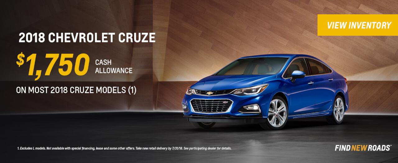 2018 Chevy Cruze $1750