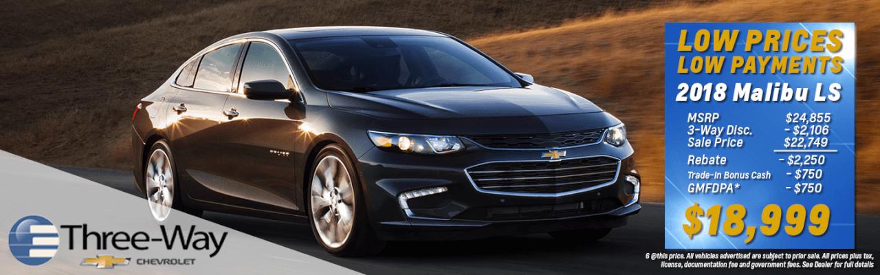 2018 Chevy Malibu Lease