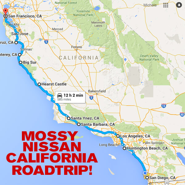 san diego to san francisco map Top 10 Highway 1 Classics From San Diego To San Francisco Mossy