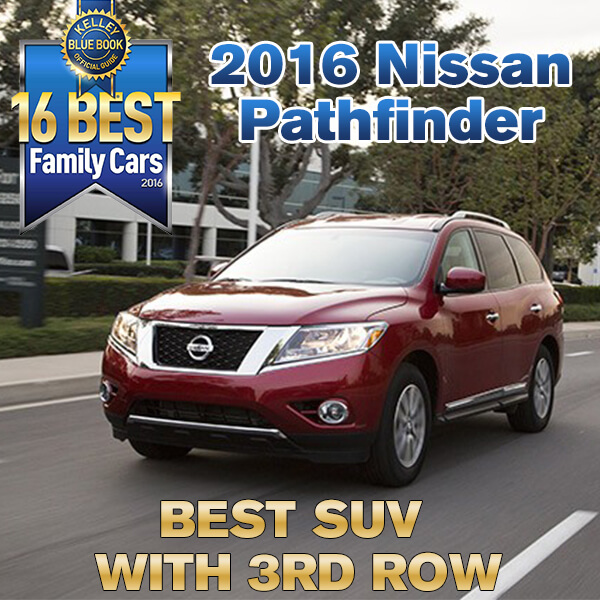 Best Family Suv With 3rd Row >> 2016 Nissan Pathfinder Kelley Blue Book Best Family Suv In 2016