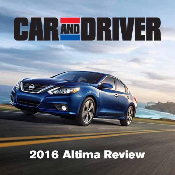 Car And Driver Reviews The 2016 Nissan Altima