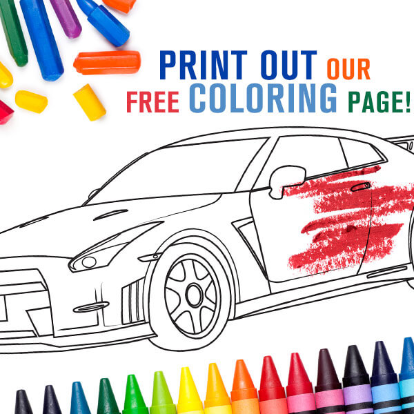 check out our free coloring pages of the nissan 370z and the nissan gt r