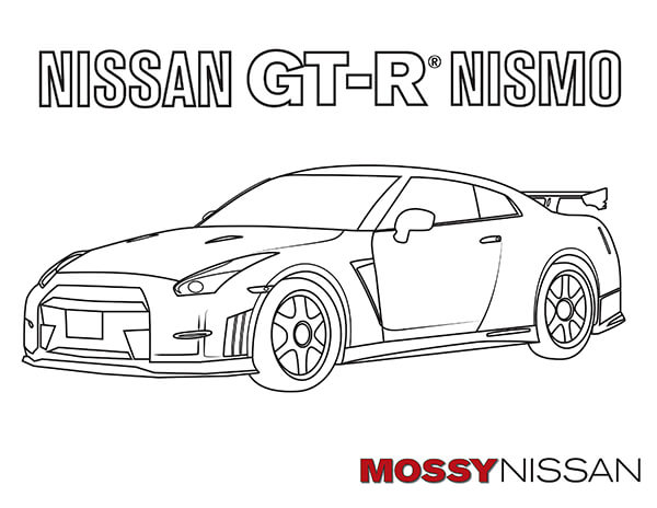 Free Car Coloring Pages for Adults and Kids - Mossy Nissan