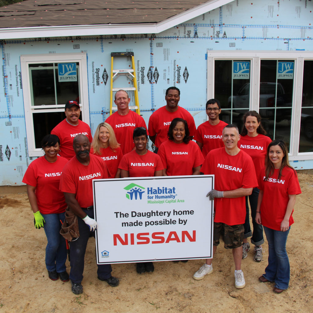 Nissan Canton Employees Work with Habitat for Humanity to