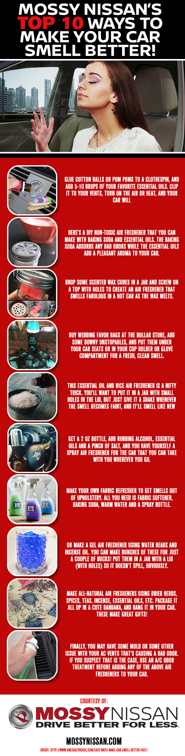 Mossy Nissan Poway >> Top 10 Ways to Make Your Car Smell Better! - Mossy Nissan