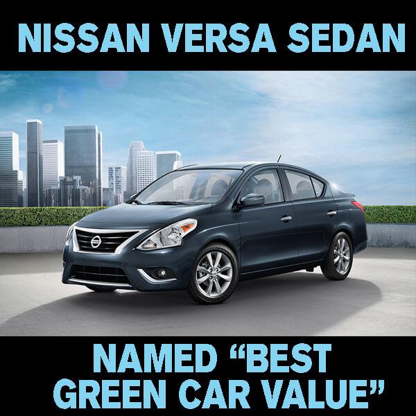 "Mossy Nissan El Cajon >> Nissan Versa Sedan named ""Best Green Car Value"" in 2015 AAA Green Car Guide - Mossy Nissan"