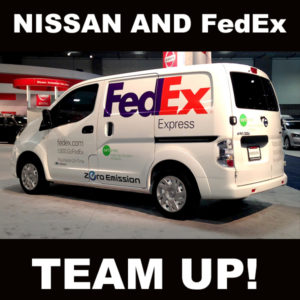 Nissan And Fedex Express Put All Electric E Nv200 To Work In Collaborative Us Test