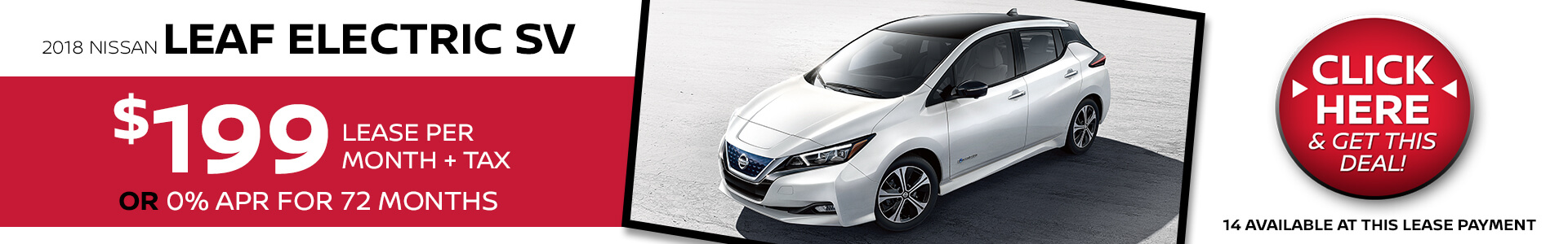 Nissan Leaf Electric $199 Lease