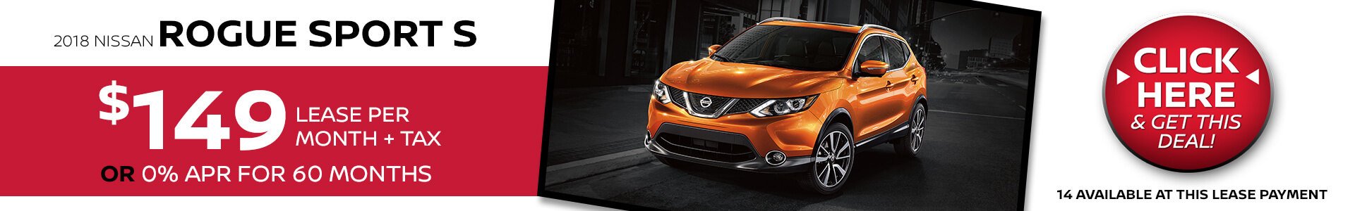 Nissan Rogue Sport $149 Lease