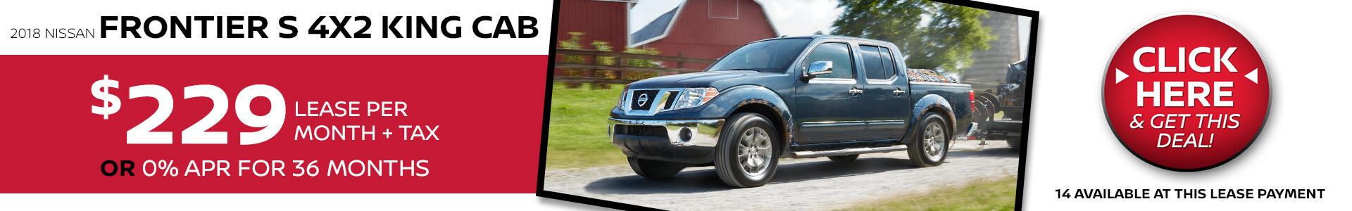 Nissan Frontier $229 Lease