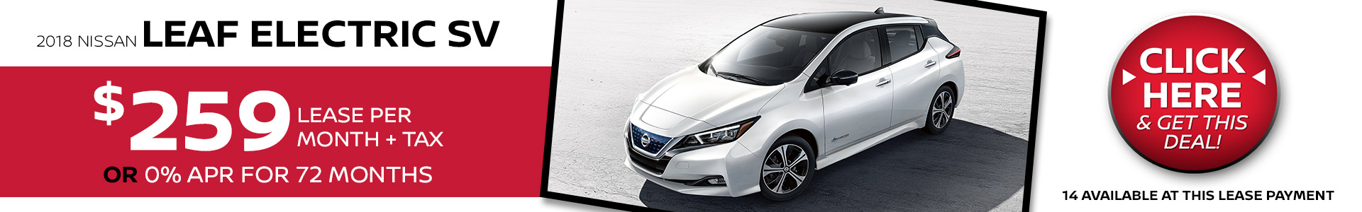 Nissan Leaf Electric $259 Lease