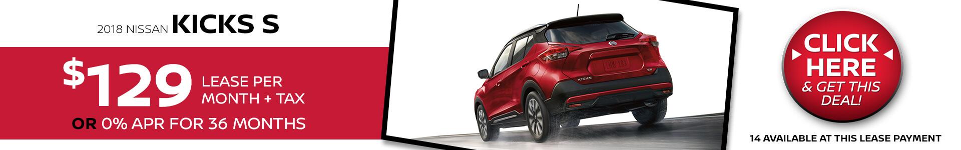 Nissan Kicks $129 Lease