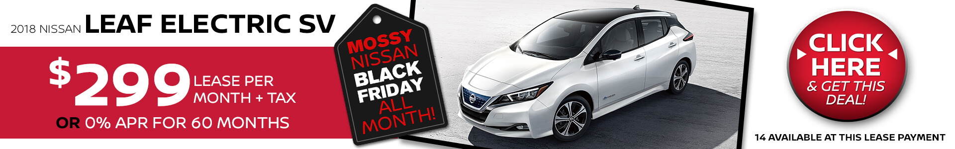 Nissan Leaf Electric $299 Lease