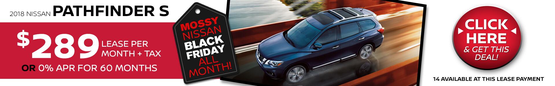 Nissan Pathfinder $289 Lease