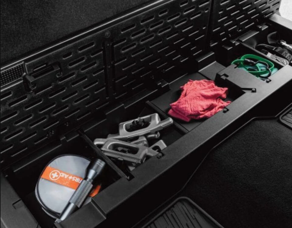 Lockable Rear Seat Cargo Organizer
