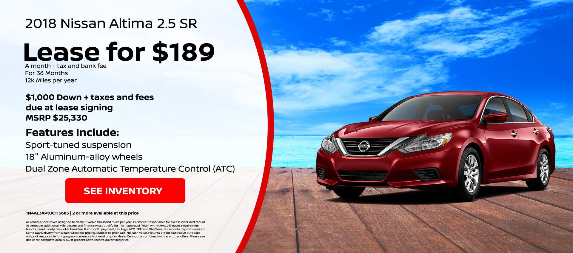 Nissan Altima $189 Lease