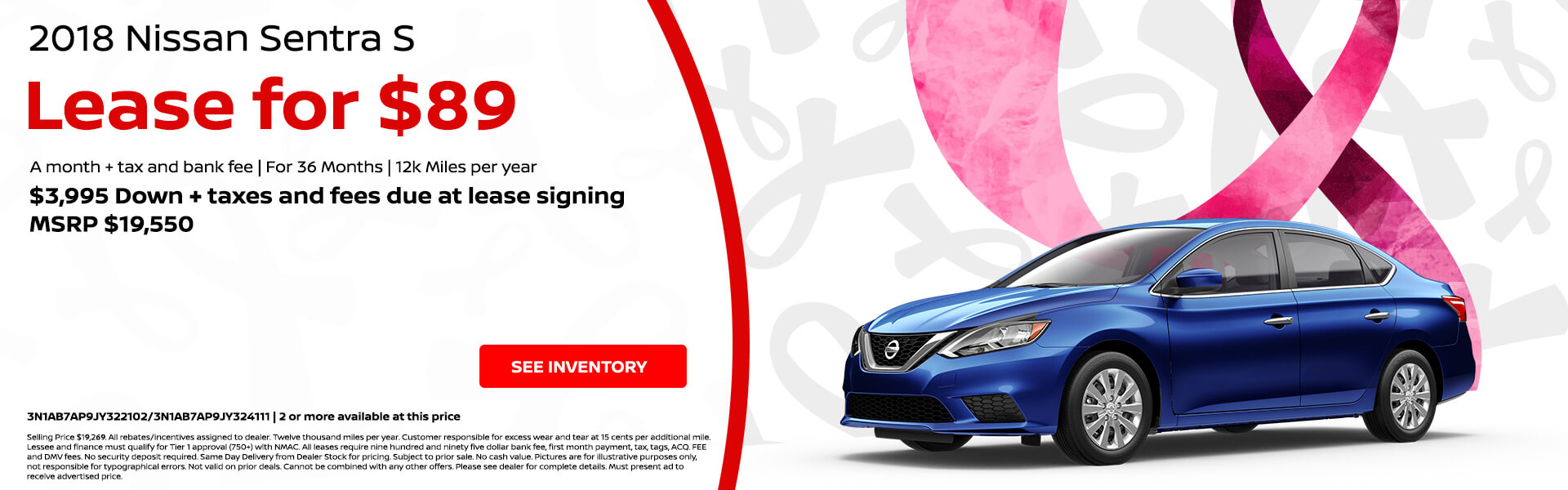 Great Nissan Sentra $89 Lease