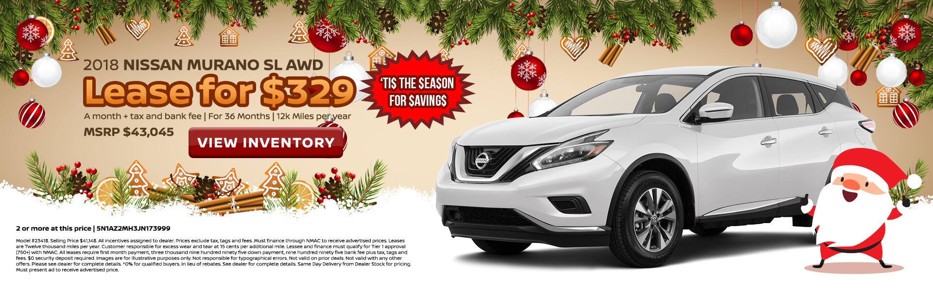 Nissan Murano $329 Lease