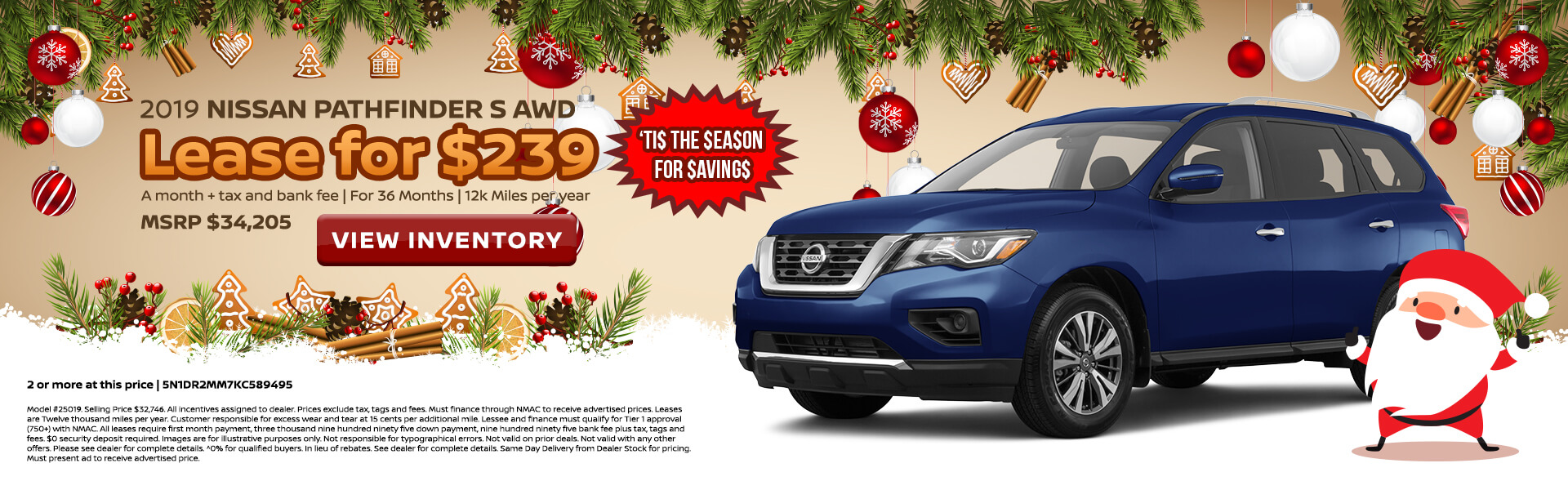 Nissan Pathfinder $239 Lease