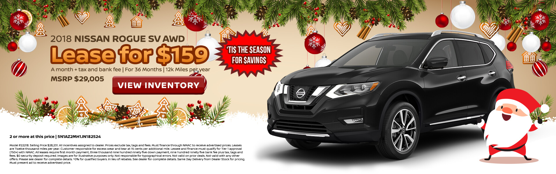 Nissan Rogue $159 Lease