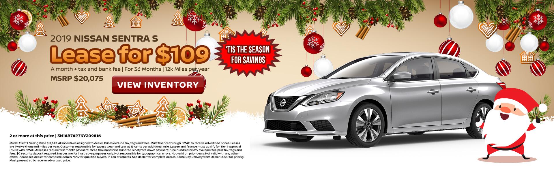 Nissan Sentra $109 Lease
