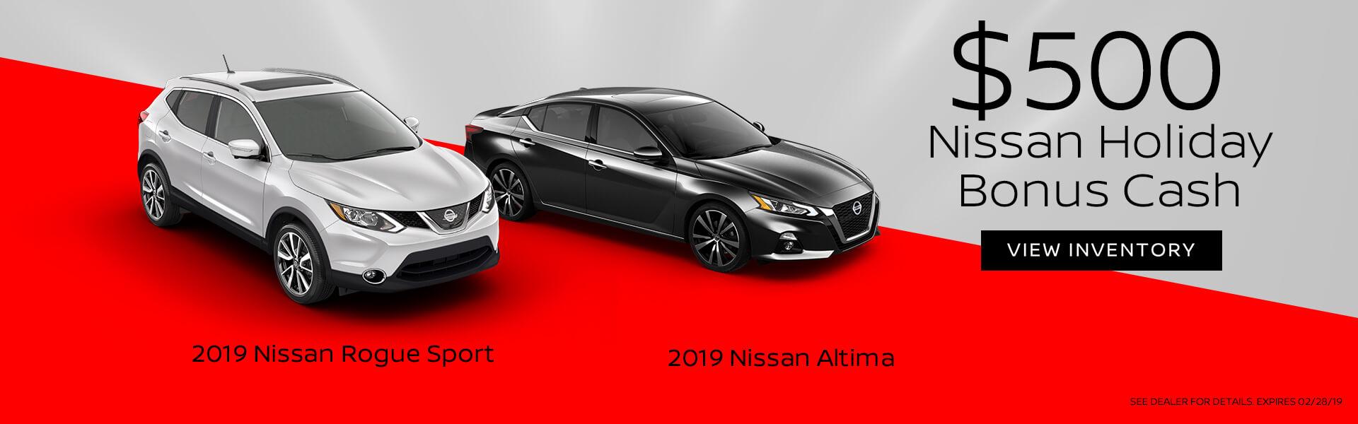 Nissan Holiday Bonus Cash